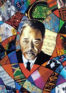 Duke Ellington Watercolor and Collage